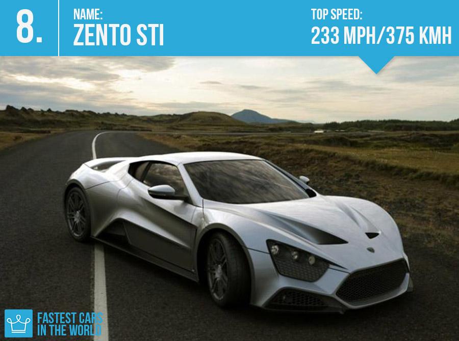 fastest cars in the world zento sti top - Super Fast Cars In The World