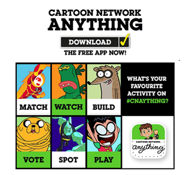 Cartoon Network launches App! #CartoonNetworkAnything ...