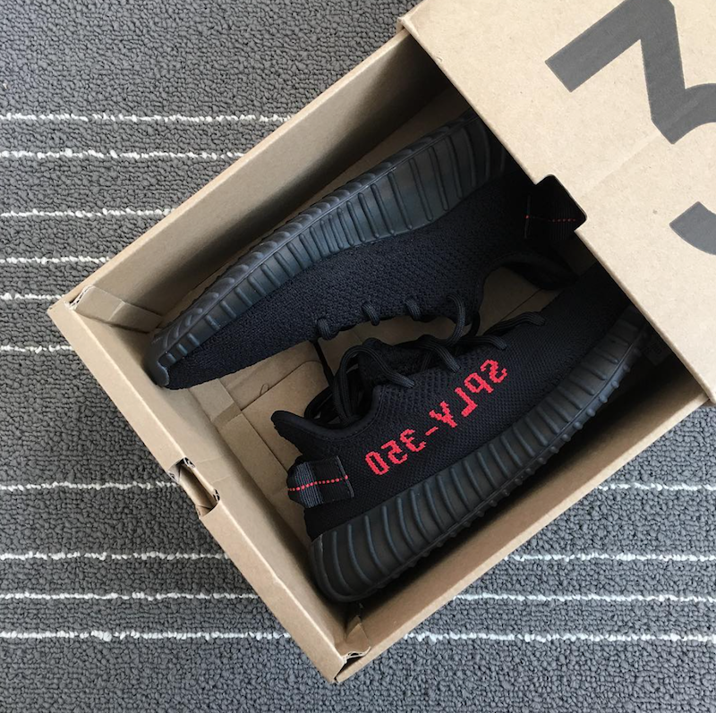 100 Authentic adidas Yeezy Boost 350 V2 Size 12 Black Red Shoes
