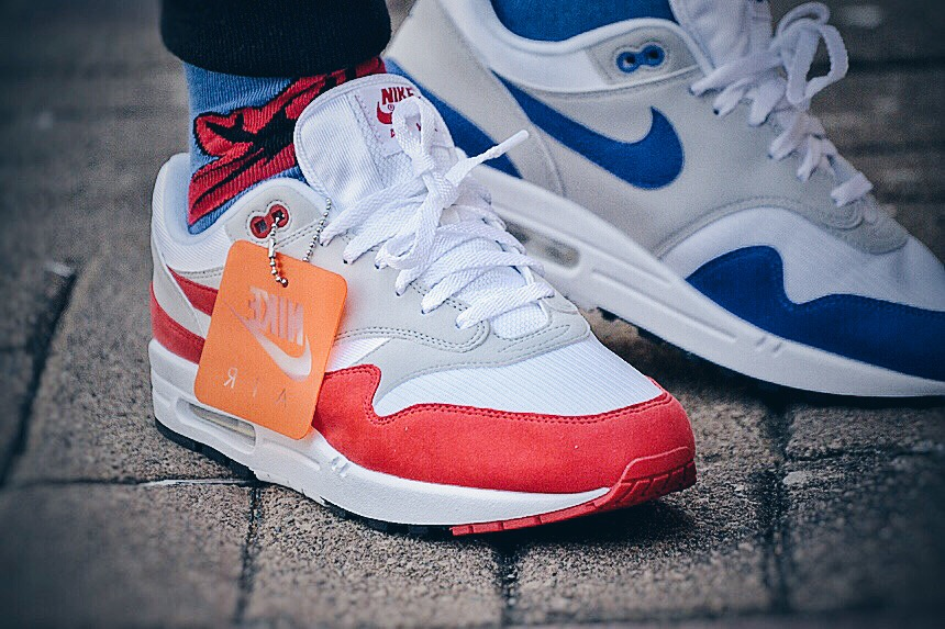 Nike Air Anniversary Feet Max Og White Red 1 On HYWD29EI