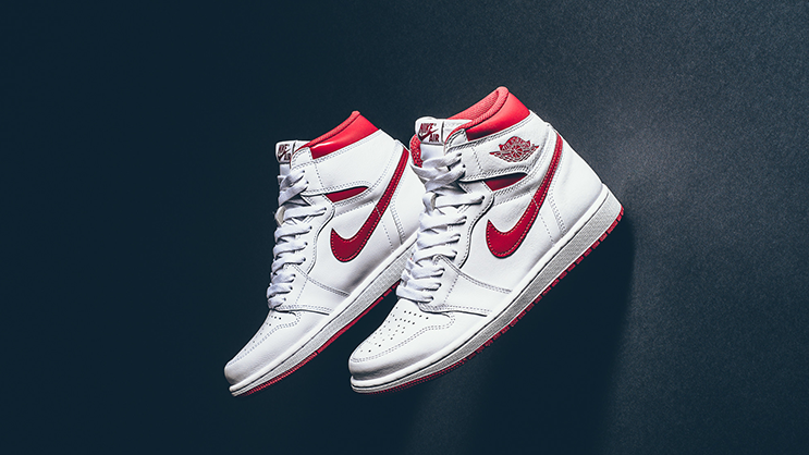 "38104a3d217 Re-releasing for the first time with Nike Air branding is the Air Jordan 1  Retro High OG ""Metallic Red"", and it's hitting retailers this weekend."