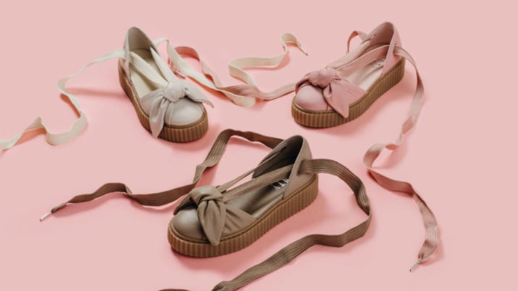 reputable site 4a119 4804a The Puma Fenty x Rihanna Bow Creeper Sandals drops tomorrow ...