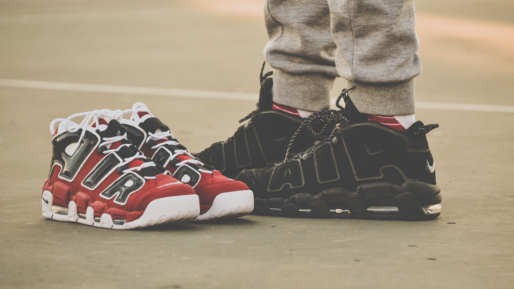 """finest selection aefae 1765c The Scottie Pippen's signature Nike Air More Uptempo has made quite a  comeback this year and one of the popular colorways that released recently  is the """" ..."""