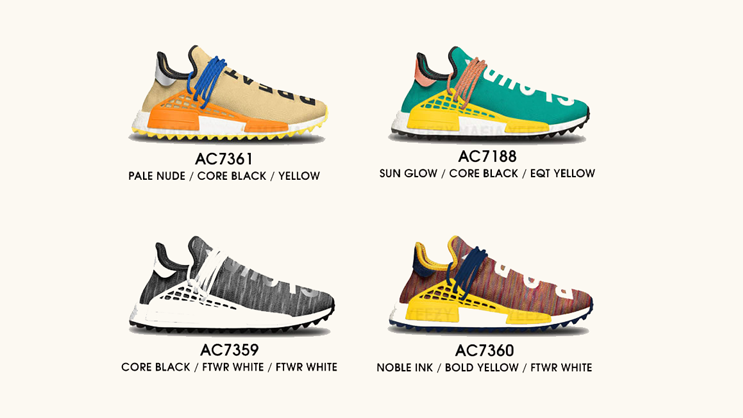sale retailer cc440 7d3c5 For the past couple of months, Pharrell Williams has been spotted wearing  various colorways of the adidas NMD Human Race, with a new trail-inspired  rubber ...