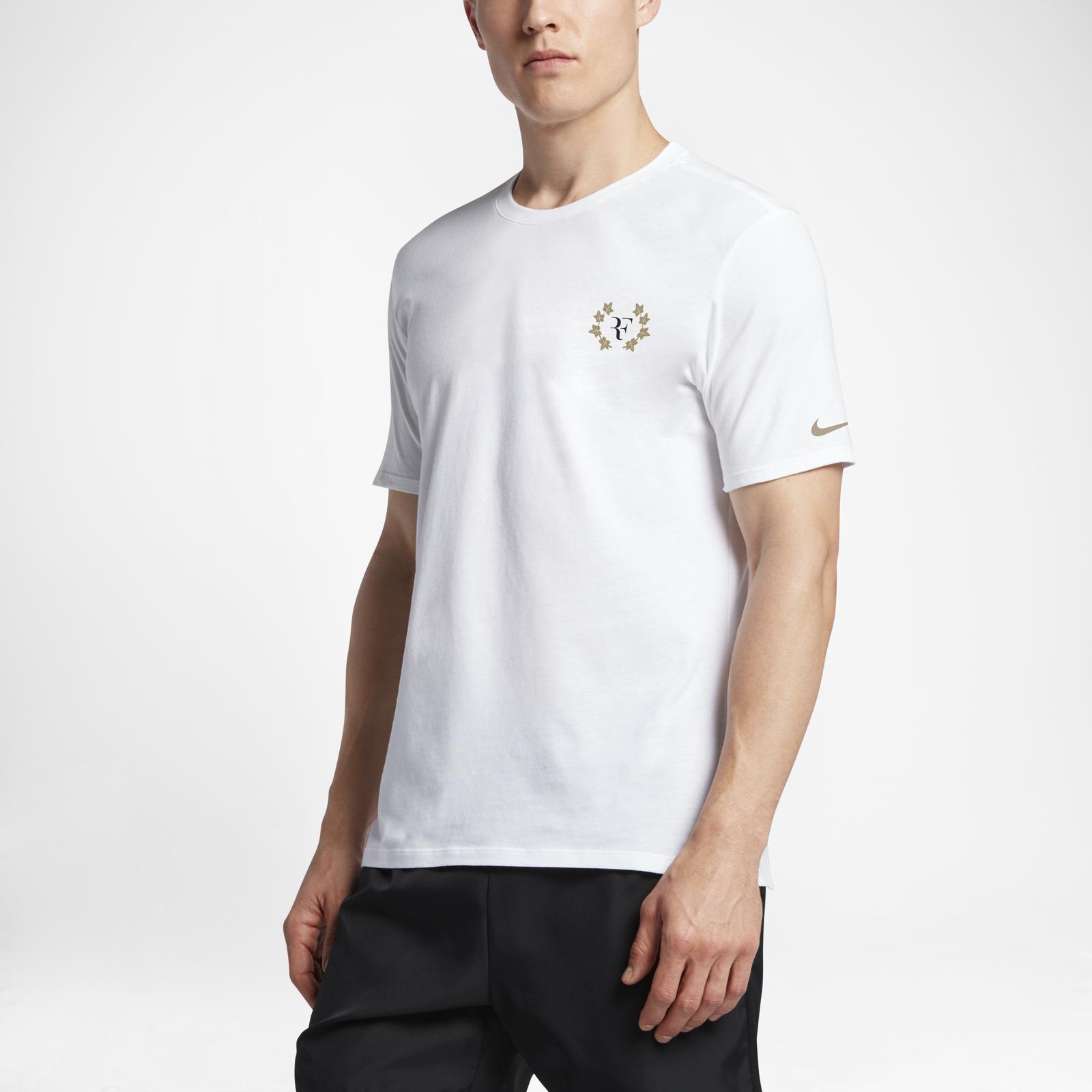 284c1c6ace420b Nike celebrates Roger Federer with  Ro8er  NikeCourt T-Shirt ...