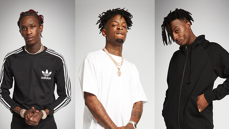 Young Thug, 21 Savage & Playboi Carti star in adidas