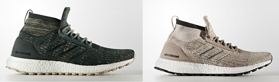 5ddd2569a3e9d Both the Ultra Boost ATR Mid features a full Primeknit upper with a  sock-like collar. A heel counter