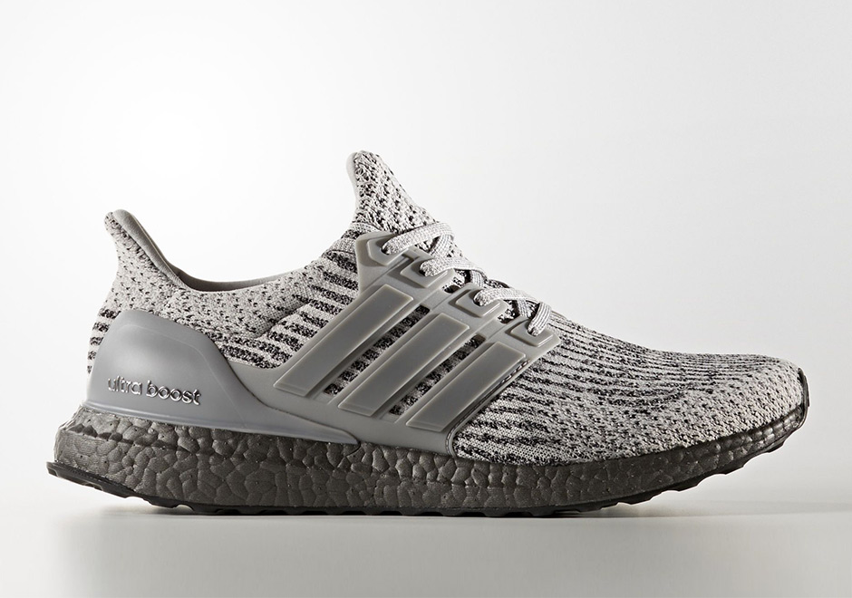 9417ced6327c9 The adidas Ultra Boost 3.0 is dressed in Grey tones throughout the  Primeknit upper
