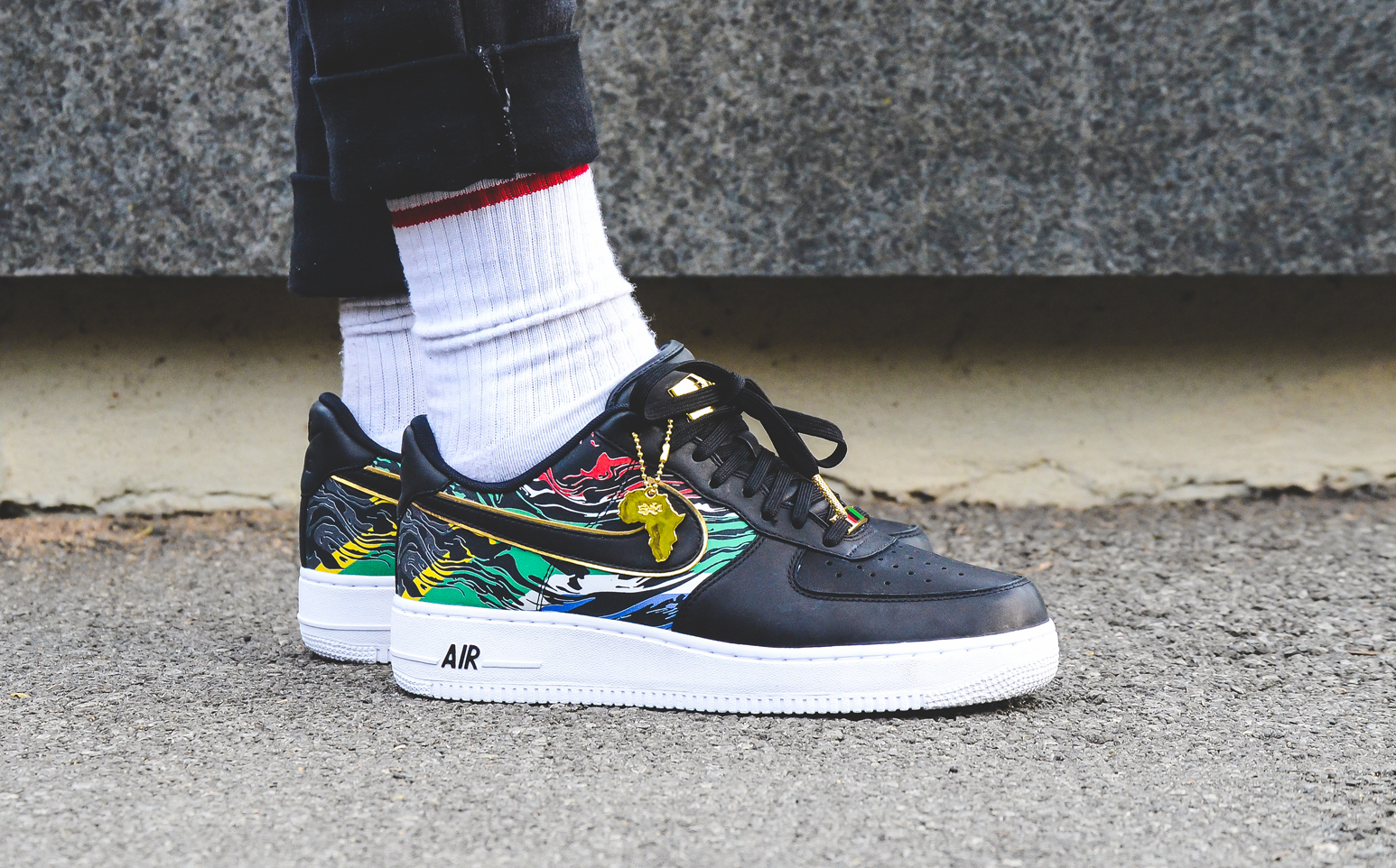 A CLOSER LOOK + ON FEET: Nike Air Force 1 'BHM Africa