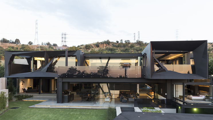 Take a look at this luxurious bedfordview house yomzansi for Modern house technology