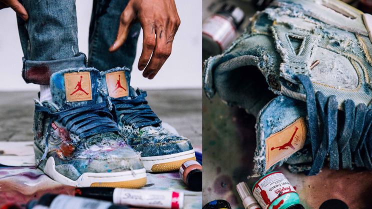 newest ae97f 98e51 Artist Julian Gaines customizes the upcoming Jordan X Levi's ...