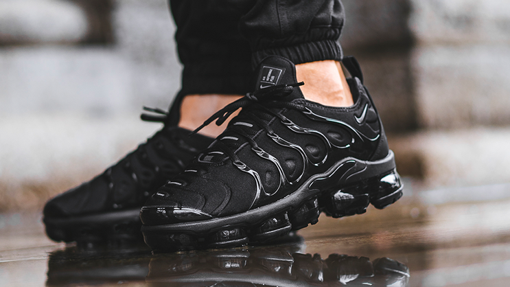 new product 81f46 fa39f The first Nike Air VaporMax Plus drops this week in Triple ...