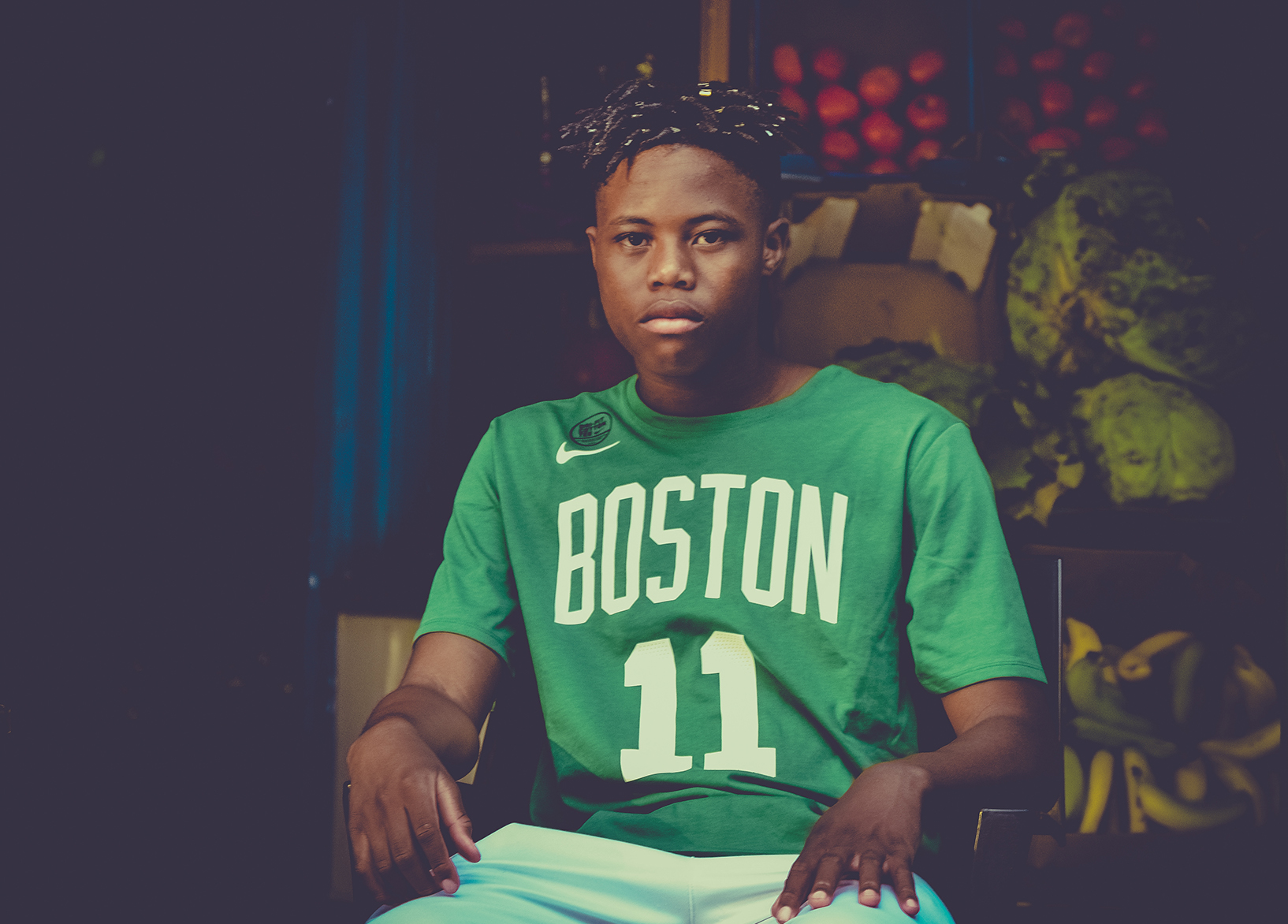 1c33d36ee To go along with the latest Nike's NBA Merchandise, we got our hands on the  latest Kyrie Irving's Boston Celtics Nike Dri-FIT Tee.