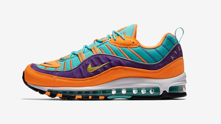 on feet shots of cheap price popular stores The Nike Air Max 98 'Cone Hyper Grape' is dropping Tomorrow ...