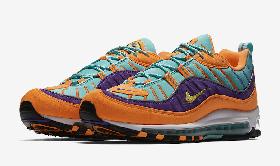 online store 9162f 8bd8c The Nike Air Max 98 'Cone Hyper Grape' is dropping Tomorrow ...