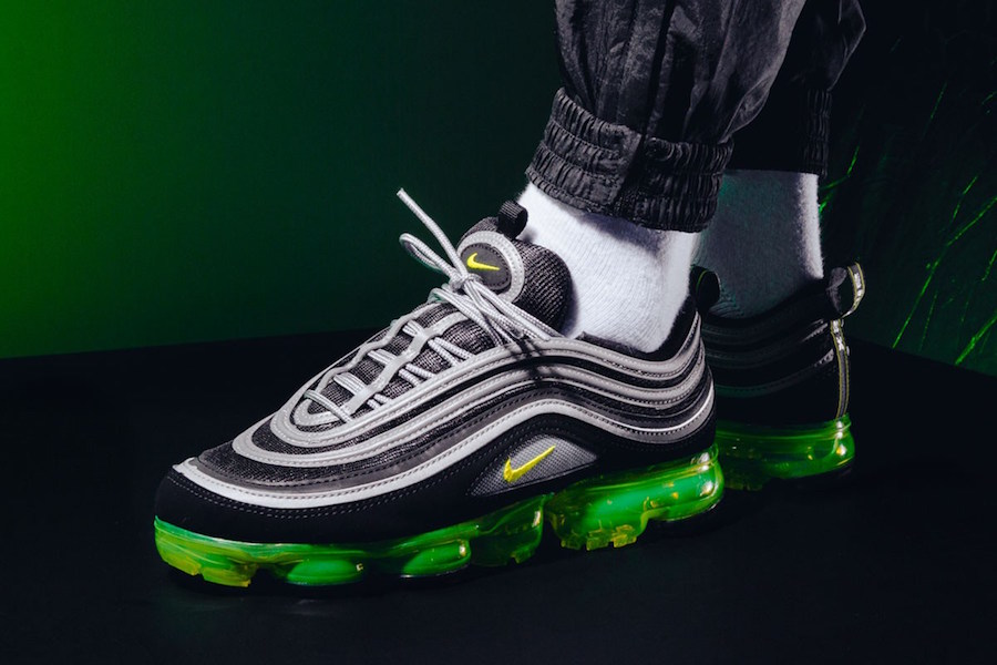 e973f8c08b8f0 Constructed with an upper from the Air Max 97 and full-length Air-Sole unit  of the VaporMax. Completing the design is the signature 3M Reflective  trimming.