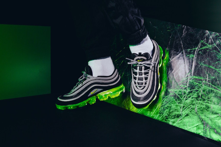 d5a50094d1 The silhouette features a classic Neon colourway which takes inspiration  from the Air Max 97 Japan OG. The Nike Air VaporMax ...