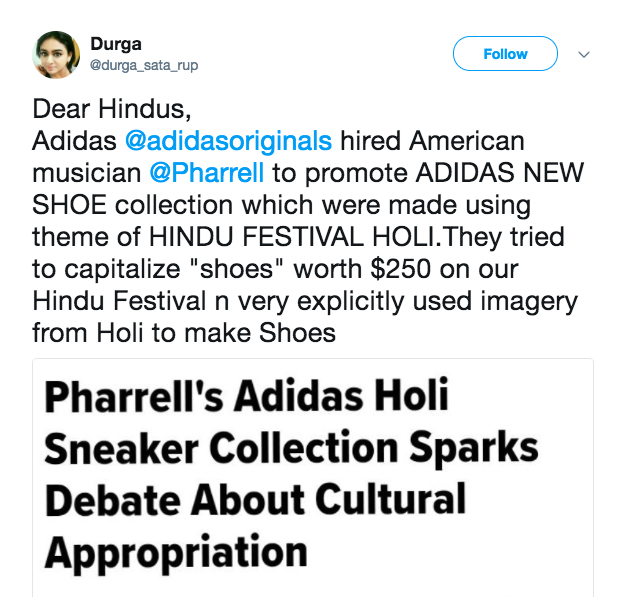 c28b8b698add1 And not everyone is offended by the collection. Adidas told Footwear News  in a statement  Adidas Originals and Pharrell Williams created Hu ...