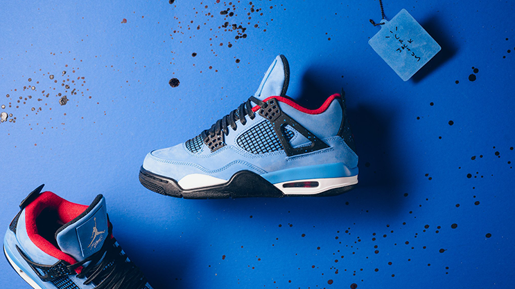 "... and record producer Travis Scott honours his Houston roots with his  first Jordan Brand collaboration release  The Air Jordan 4 ""Travis Scott"". 394203738"