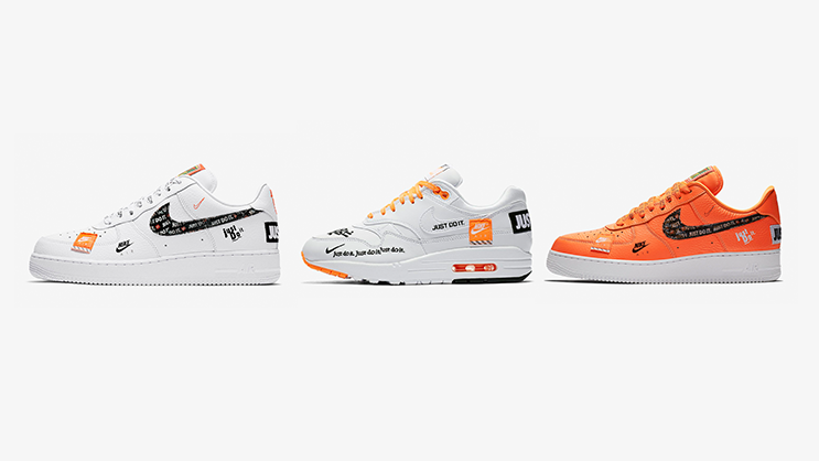 "51483f76e57ae In celebration of the 30th anniversary of Nike's ""JUST DO IT"" tagline – the  Swoosh presents the Just Do It collection which includes the Air Force 1  and Air ..."