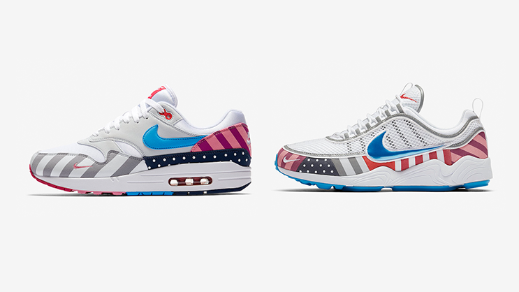 uk availability 83a1c aa60b The Nike x Parra Air Max 1 and Zoom Spiridon Collaboration ...