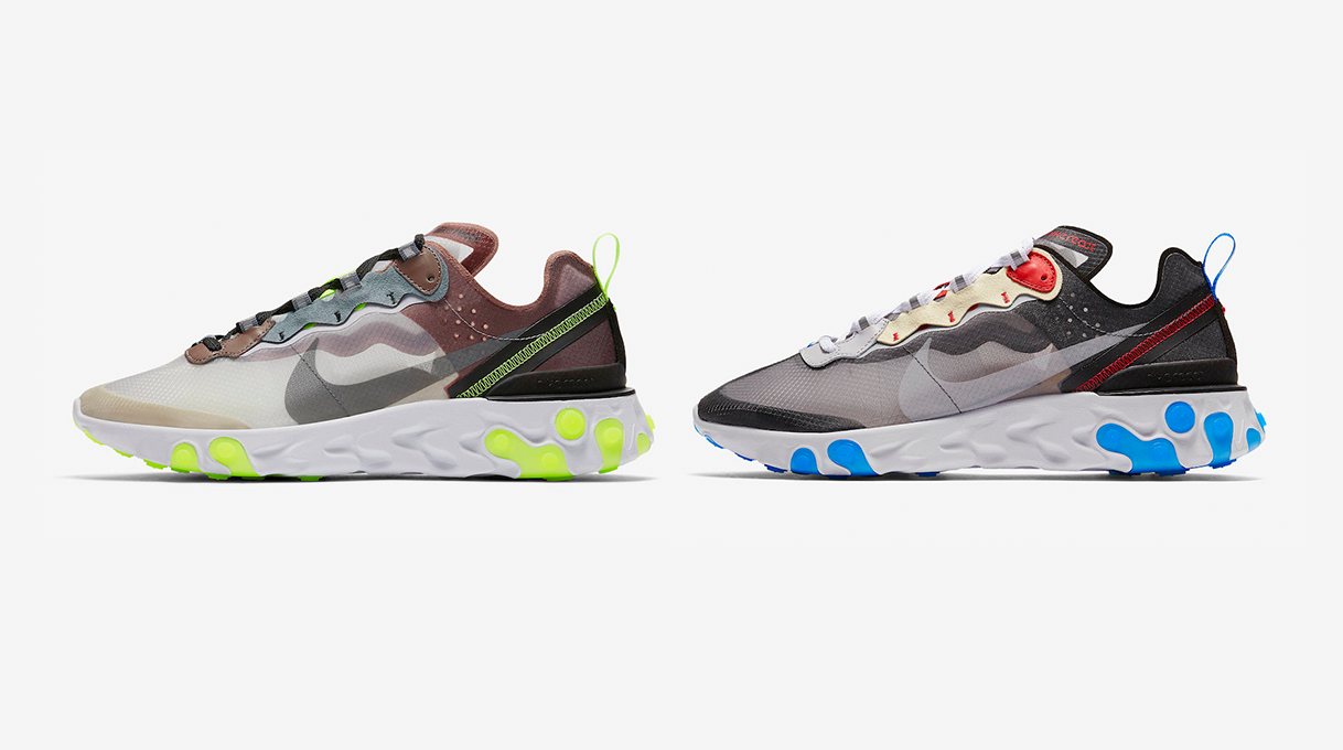 "77ea0562ed46 The Nike React Element 87 is releasing in ""Desert Sand"" and ""Dark Grey""  this week"
