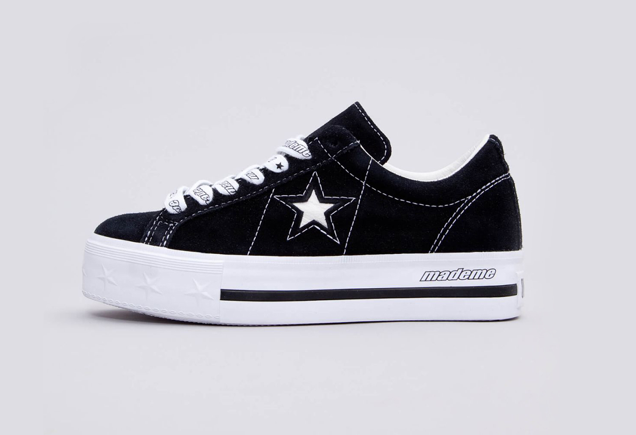 04e13868e80223 Converse x Made Me One Star Platform – Black