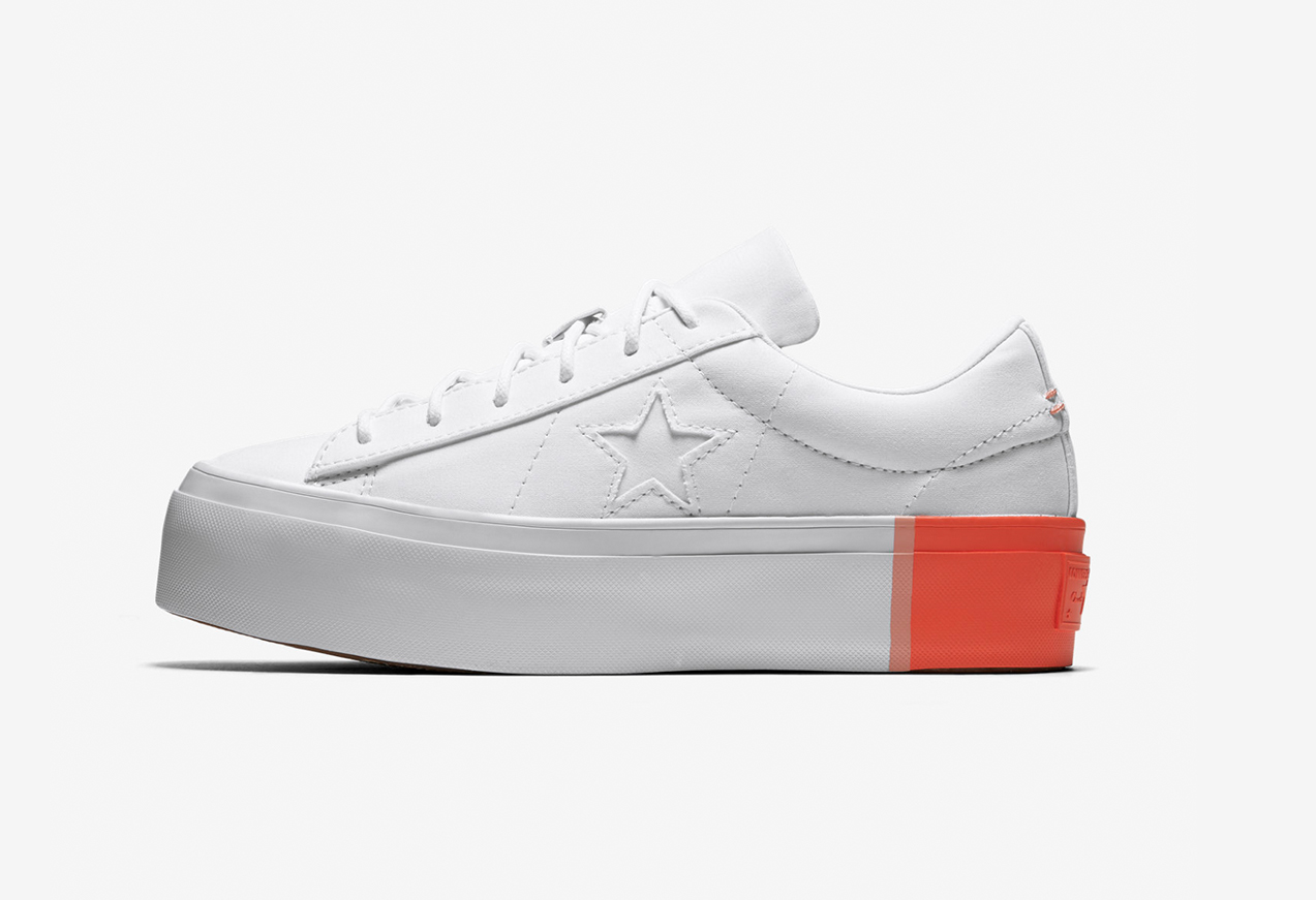 86aa233c69ac22 Converse One Star Platform Colour Block